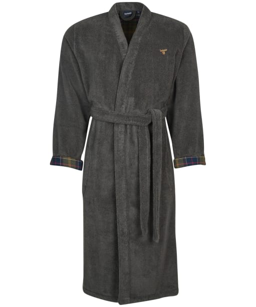Men's Barbour Lachlan Dressing Gown - Charcoal