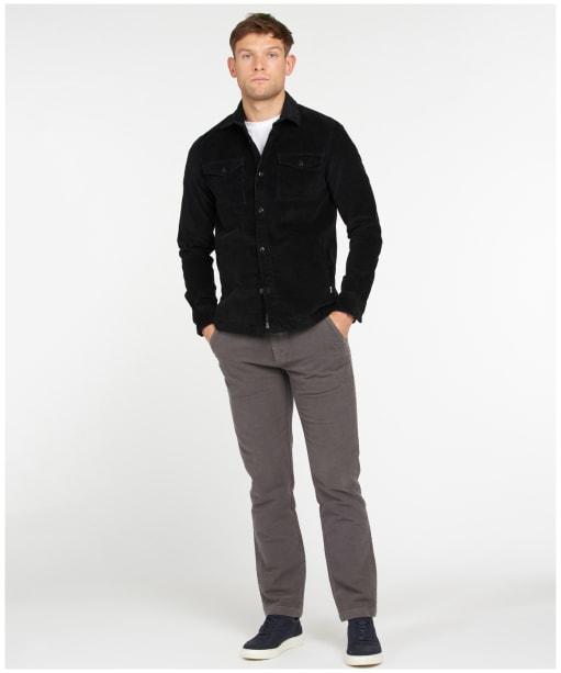Men's Barbour Cord Overshirt - Black