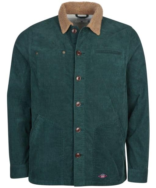 Men's Barbour International Steve McQueen Spark Cord Overshirt - DEEP GREEN