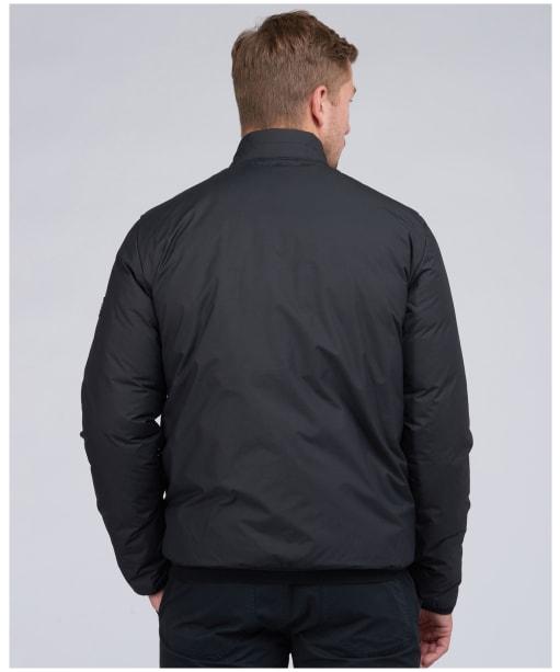 Men's Barbour International Transmission Throttle Baffle Quilted Jacket - Black