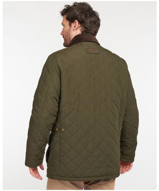 Men's Barbour Burton Quilted Jacket - Dark Olive