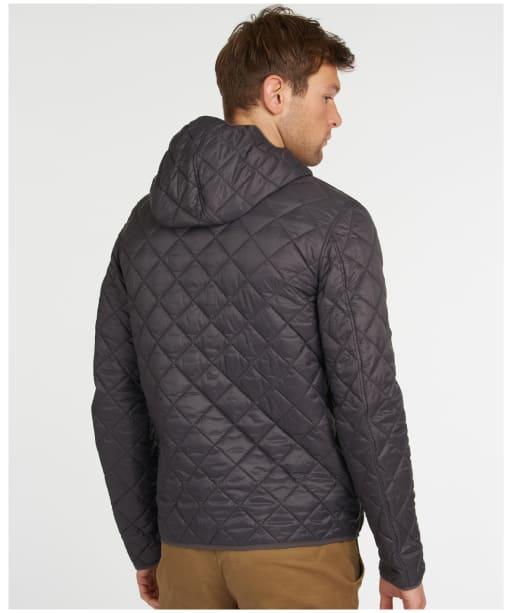 Men's Barbour Hooded Quilted Jacket - Asphalt