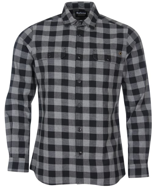 Men's Barbour International Bold Block Check Shirt - ANTHRAC MARL CK