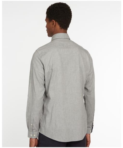 Men's Barbour Backhill Tailored Shirt - Grey Marl