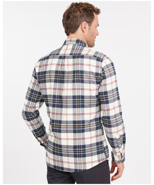 Men's Barbour Ronan Tailored Shirt - Ecru Check