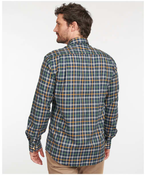 Men's Barbour Coll Thermo Weave Shirt - Dark Navy Check