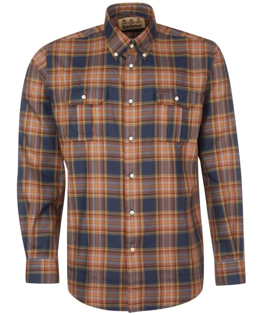 Men's Barbour Singsby Thermo Weave Shirt - Navy Check