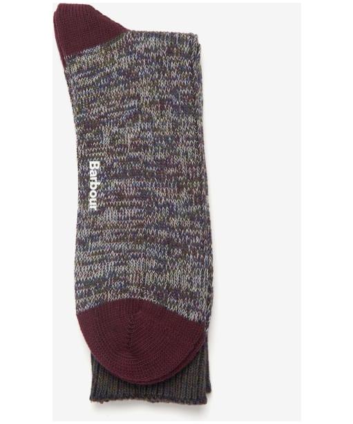 Men's Barbour Glencoe Socks - Burgundy Twist