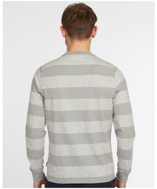 Men's Barbour Ortun Striped Tee - Grey Marl