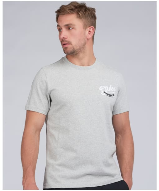 Men's Barbour International Legacy Duke Tee - Light Grey Marl