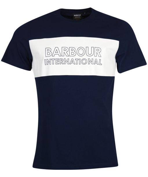 Men's Barbour International Line Logo Tee - Navy
