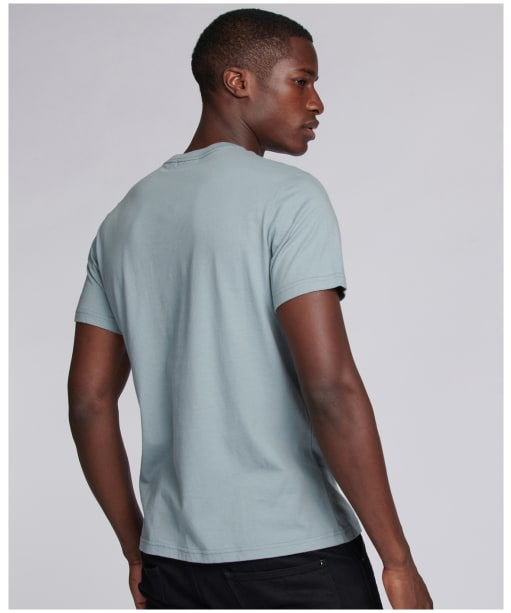 Men's Barbour International Outline Tee - Grey Blue