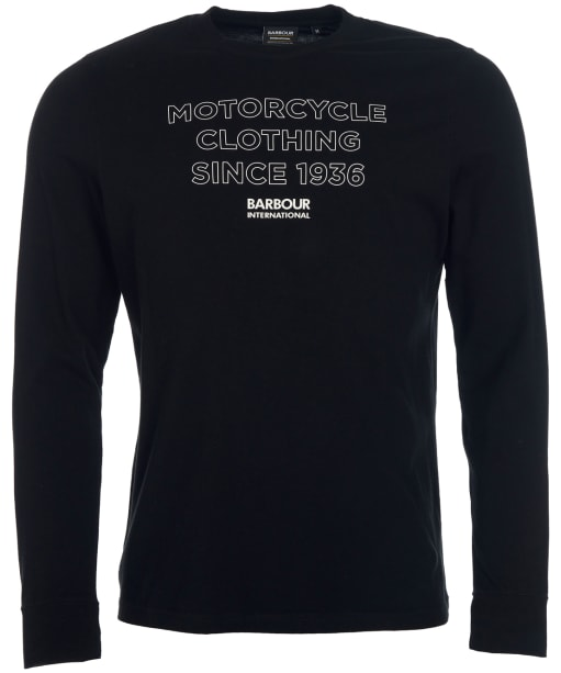Men's Barbour International Transmission L/S Tee - Black