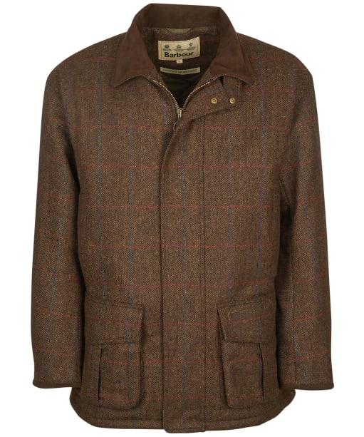 Men's Barbour Penrith Wool Waterproof Jacket - Brown Check
