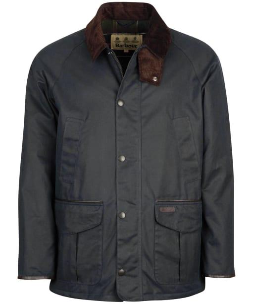 Men's Barbour Stratford Wax Jacket - Navy
