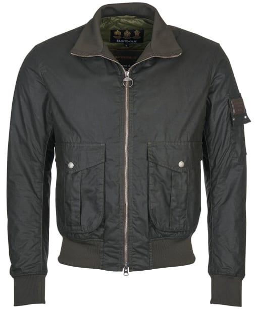 Men's Barbour Gold Standard Short Wax Jacket - Olive