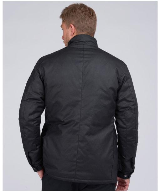 Men's Barbour International 8oz Duke Wax Jacket - Black