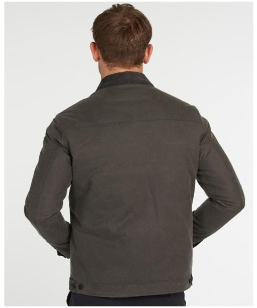 Men's Barbour West Wax Jacket - Charcoal