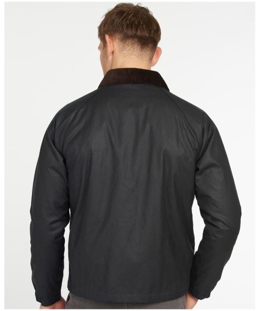 Men's Barbour Dom Waxed Jacket - Navy