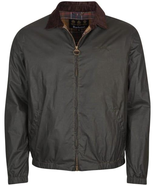 Men's Barbour Vital Waxed Jacket - Dark Olive