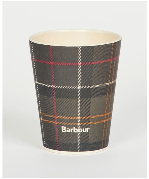 Set Of 4 Bamboo Cups                          - Classic Tartan