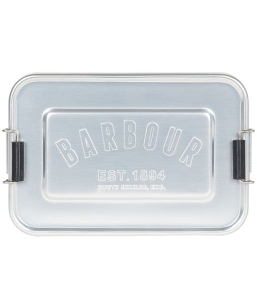 Barbour Aluminium Lunch Tin - Matte Silver