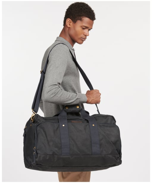 Barbour Traveller Wax Holdall - Navy