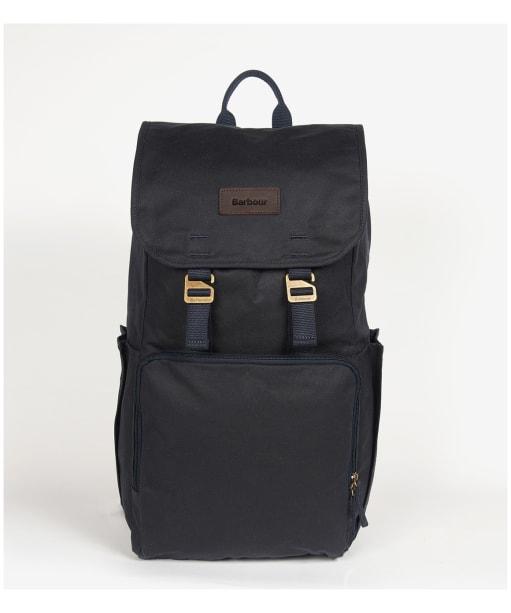 Barbour Traveller Wax Backpack - Navy
