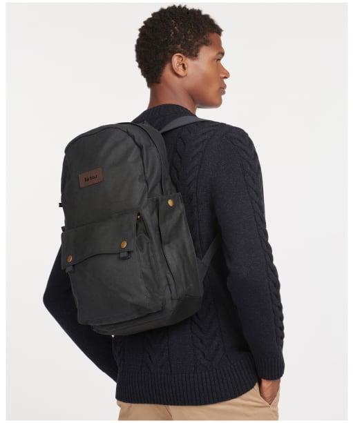 Barbour Explorer Wax Backpack  - Navy