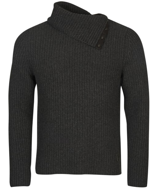 Men's Barbour Fisher Knitted Roll Neck Sweater - Charcoal Marl