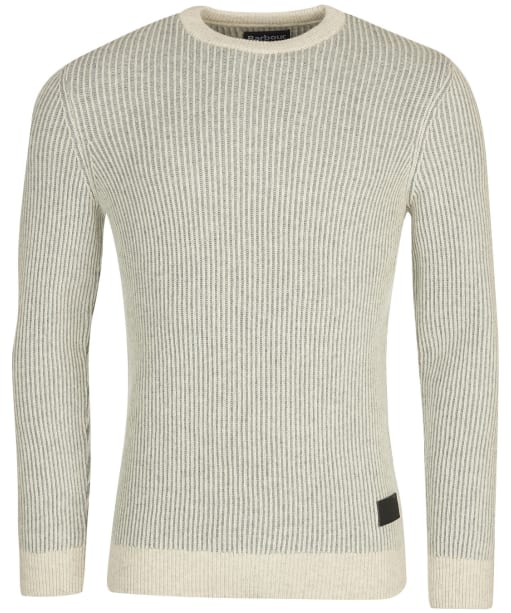 Men's Barbour Duffle Knitted Crew Sweater - Ecru
