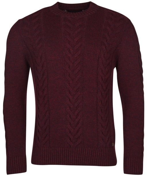 Men's Barbour Essential Cable Knit - Ruby Marl