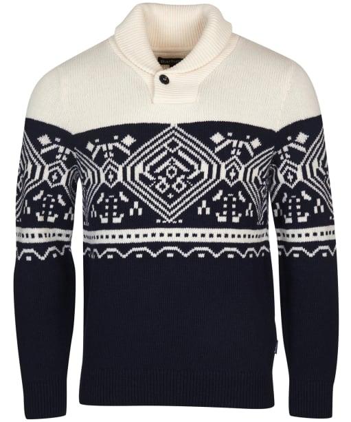 Men's Barbour Essential Fair Isle Shawl Collar Knit - Navy