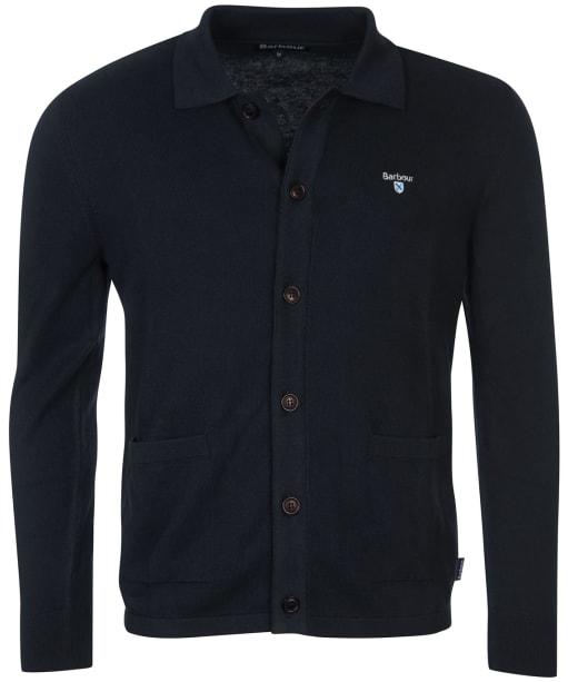 Men's Barbour Essential Cotton Cashmere Cardigan - Navy