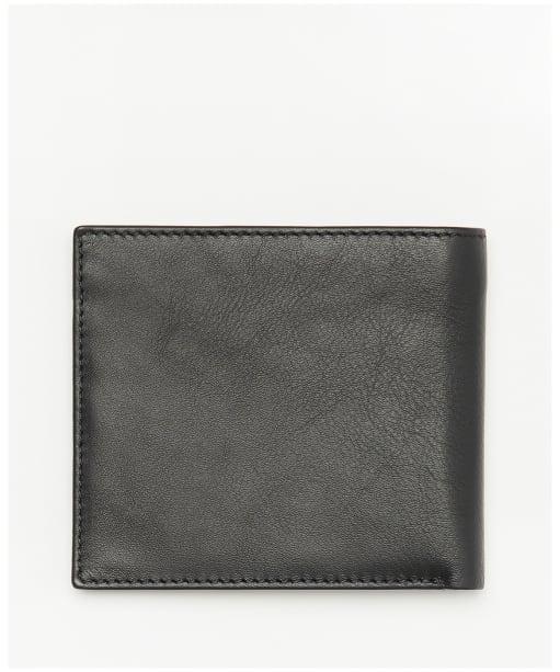 Men's Barbour Leather Billfold Wallet - BLACK/WINTE RED