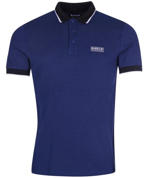 Men's Barbour International Accelerator Contrast Pique Polo Shirt - Regal Blue