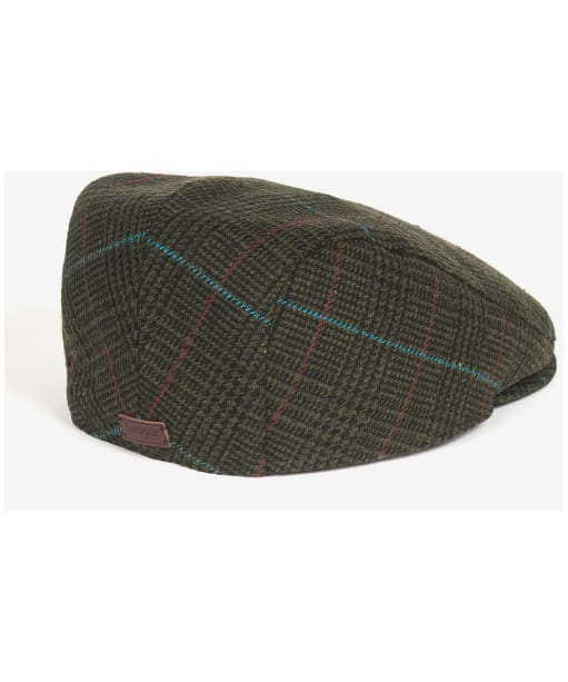 Men's Barbour Cheviot Flat Cap - Dark Green Check