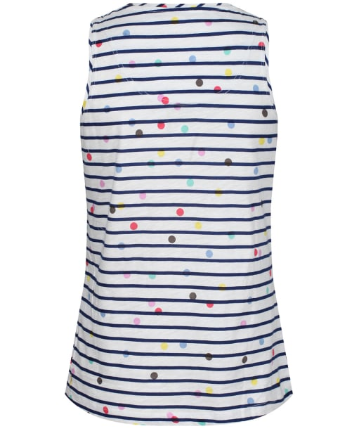 Women's Joules Maya Print Vest - Cream / Blue Spot Stripe