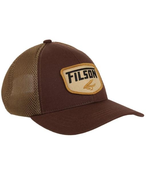 Men's Filson Mesh Snap Back Logger Cap - Brown