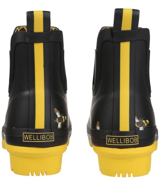 Women's Joules Wellibob Short Wellingtons - Black Metal Bee
