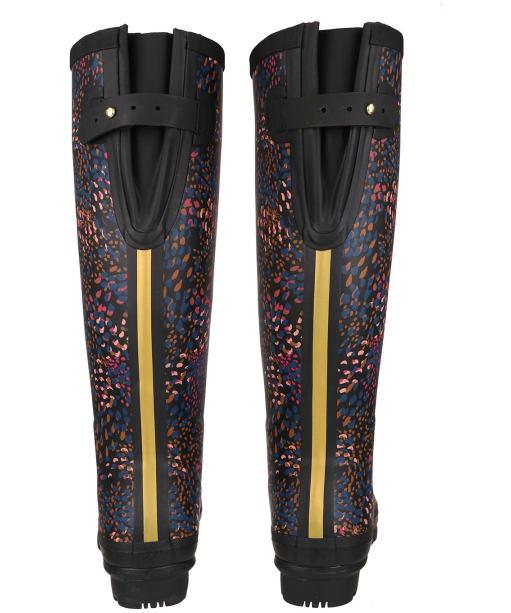 Women's Joules Printed Wellies - Black Speckle