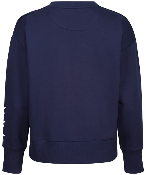 Women's GANT Retro Crew Neck Sweater - Classic Blue