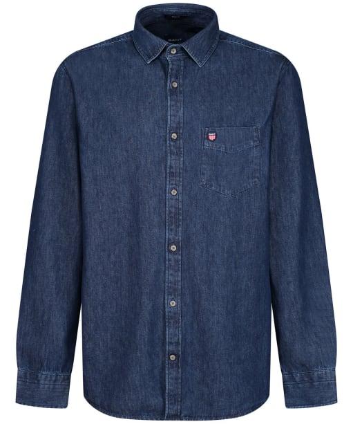 Men's GANT Denim Town Shirt - Mid Blue