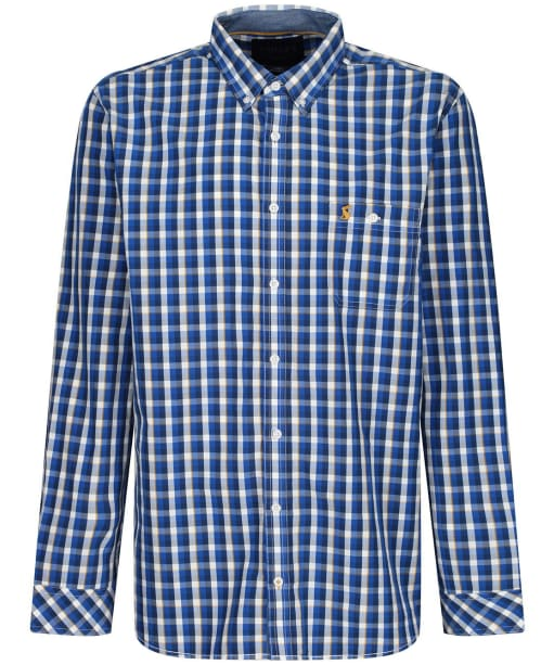 Men's Joules Abbott Classic Check Shirt - Blue / Yellow Check