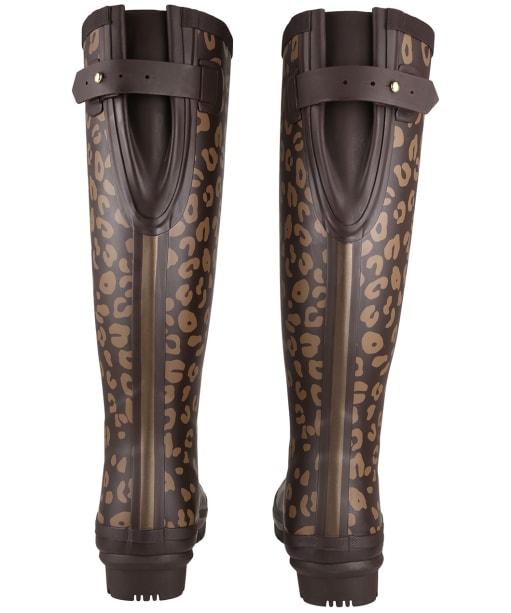 Women's Joules Printed Adjustable Wellies - Brown Leopard Border