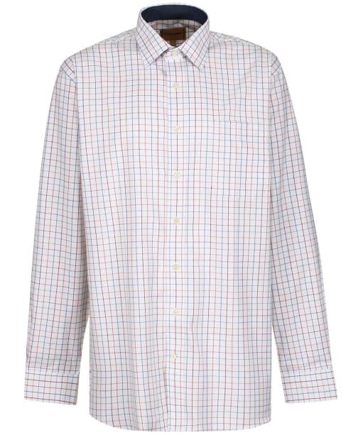 Men's Schoffel Burnham Tattersall Shirt - Bordeaux Check
