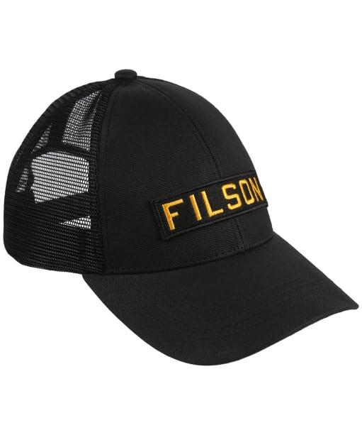 Men's Filson Mesh Snap Back Logger Cap - Black