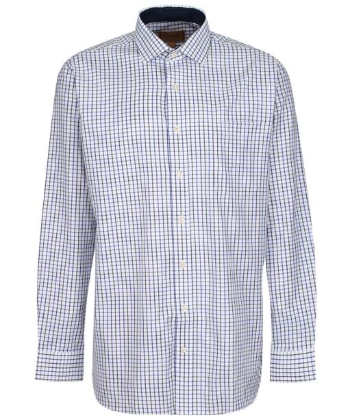 Men's Schoffel Milton Tailored Shirt - Racing Green/Navy Check