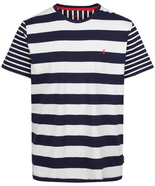 Men's Joules Croswell Tee - Navy / Cream Stripe