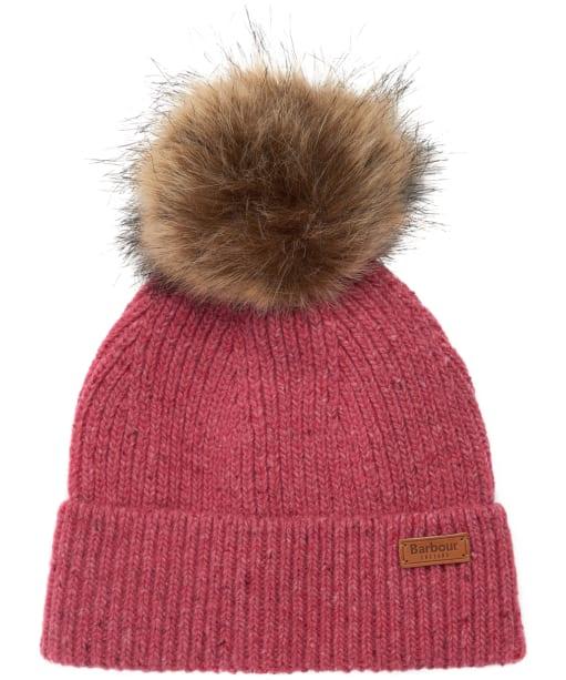 Women's Barbour Whitley Fleck Beanie - Hot Pink